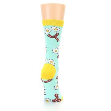 Image of Mint Bacon and Eggs Breakfast Women's Dress Socks (side-1-back-20)