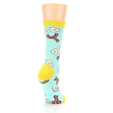 Image of Mint Bacon and Eggs Breakfast Women's Dress Socks (side-1-back-21)
