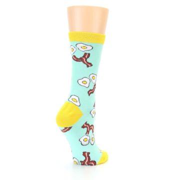 Image of Mint Bacon and Eggs Breakfast Women's Dress Socks (side-1-back-22)