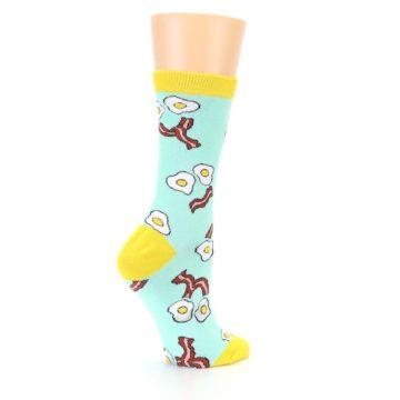 Image of Mint Bacon and Eggs Breakfast Women's Dress Socks (side-1-23)