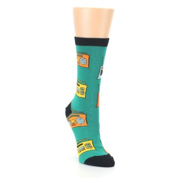 Image of Teal Boombox Radio Women's Dress Socks (side-1-front-02)