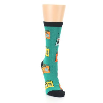 Image of Teal Boombox Radio Women's Dress Socks (side-1-front-03)