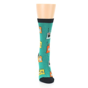 Image of Teal Boombox Radio Women's Dress Socks (front-04)