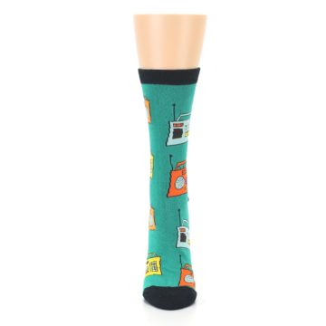 Image of Teal Boombox Radio Women's Dress Socks (front-05)