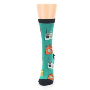 Image of Teal Boombox Radio Women's Dress Socks (side-2-front-06)