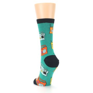Image of Teal Boombox Radio Women's Dress Socks (side-2-back-16)