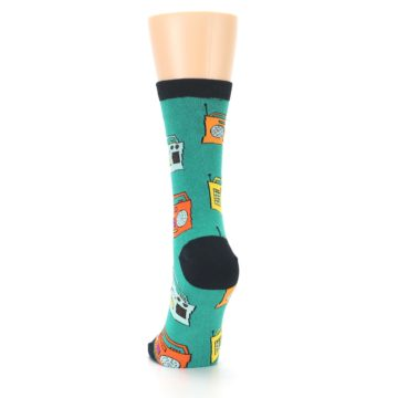 Image of Teal Boombox Radio Women's Dress Socks (back-17)