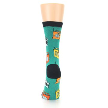 Image of Teal Boombox Radio Women's Dress Socks (back-18)