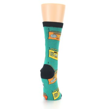 Image of Teal Boombox Radio Women's Dress Socks (side-1-back-20)