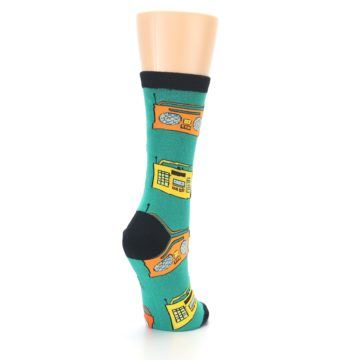 Image of Teal Boombox Radio Women's Dress Socks (side-1-back-21)