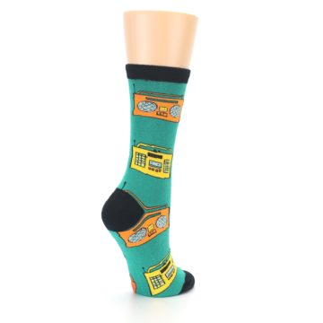 Image of Teal Boombox Radio Women's Dress Socks (side-1-back-22)