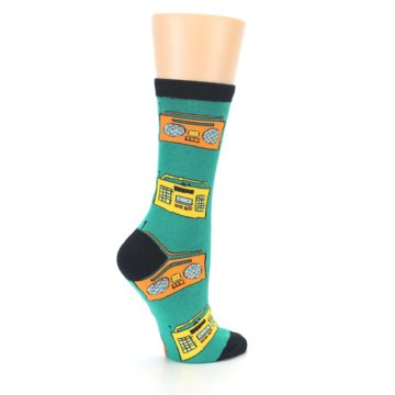 Image of Teal Boombox Radio Women's Dress Socks (side-1-23)