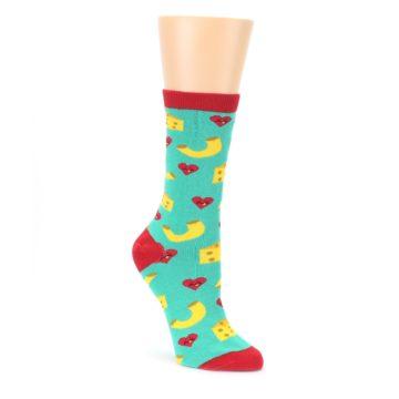 Green Yellow Mac n Cheese Womens Dress Socks Oooh Yeah Socks