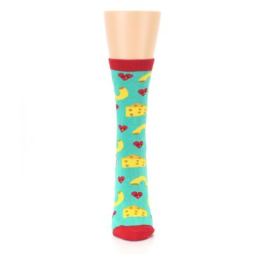 Image of Green Yellow Mac n Cheese Women's Dress Socks (front-05)