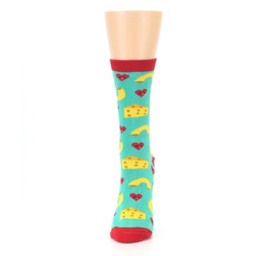 Image of Green Yellow Mac n Cheese Women's Dress Socks (side-2-front-06)