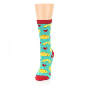 Image of Green Yellow Mac n Cheese Women's Dress Socks (side-2-front-07)