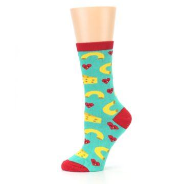 Image of Green Yellow Mac n Cheese Women's Dress Socks (side-2-11)