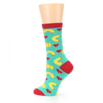 Image of Green Yellow Mac n Cheese Women's Dress Socks (side-2-13)