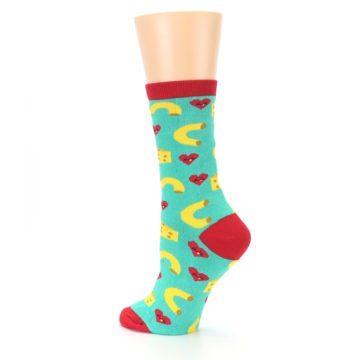 Image of Green Yellow Mac n Cheese Women's Dress Socks (side-2-back-14)