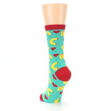 Image of Green Yellow Mac n Cheese Women's Dress Socks (side-2-back-16)