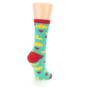 Image of Green Yellow Mac n Cheese Women's Dress Socks (side-1-back-22)