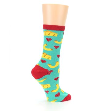 Image of Green Yellow Mac n Cheese Women's Dress Socks (side-1-24)