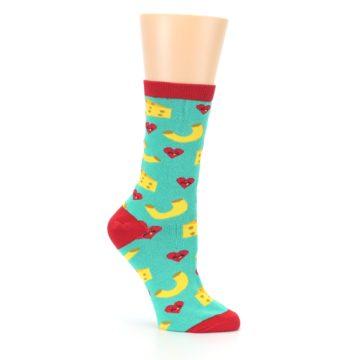 Image of Green Yellow Mac n Cheese Women's Dress Socks (side-1-26)
