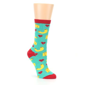 Image of Green Yellow Mac n Cheese Women's Dress Socks (side-1-27)