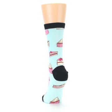 Image of Mint Black Cake Party Women's Dress Socks (back-17)
