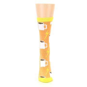Image of Orange White Coffee Cups Women's Dress Socks (front-05)