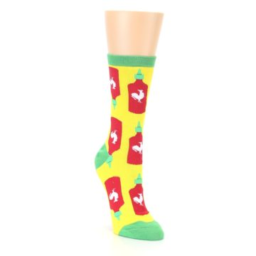 Image of Yellow Red Hot Sauce Women's Dress Socks (side-1-front-02)