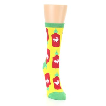 Image of Yellow Red Hot Sauce Women's Dress Socks (side-1-front-03)