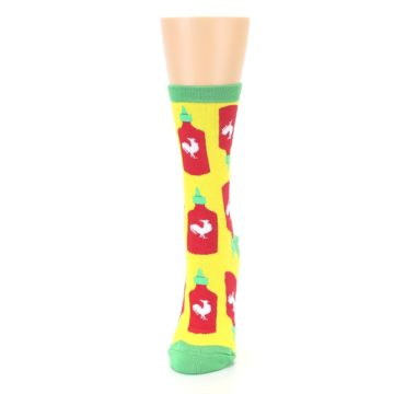 Image of Yellow Red Hot Sauce Women's Dress Socks (side-2-front-06)