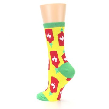 Image of Yellow Red Hot Sauce Women's Dress Socks (side-2-back-14)