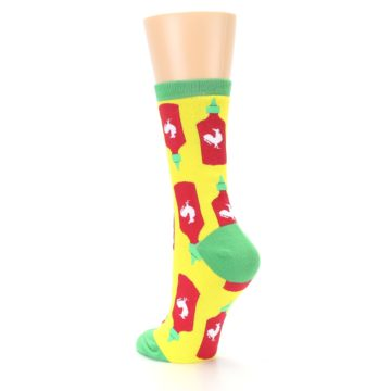 Image of Yellow Red Hot Sauce Women's Dress Socks (side-2-back-15)