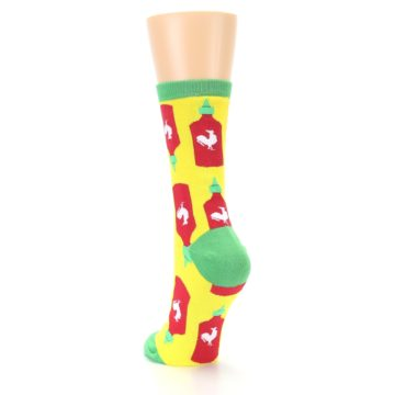 Image of Yellow Red Hot Sauce Women's Dress Socks (side-2-back-16)