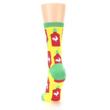 Image of Yellow Red Hot Sauce Women's Dress Socks (back-17)