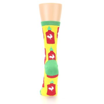 Image of Yellow Red Hot Sauce Women's Dress Socks (back-18)