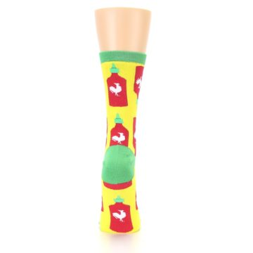 Image of Yellow Red Hot Sauce Women's Dress Socks (back-19)