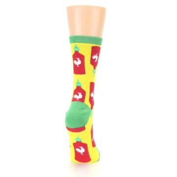 Image of Yellow Red Hot Sauce Women's Dress Socks (side-1-back-20)
