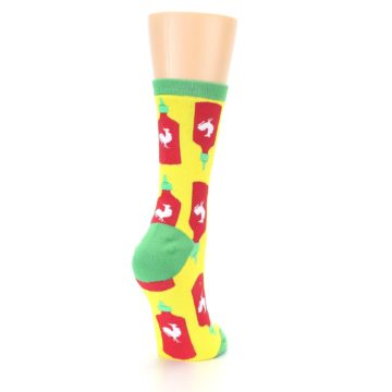 Image of Yellow Red Hot Sauce Women's Dress Socks (side-1-back-21)