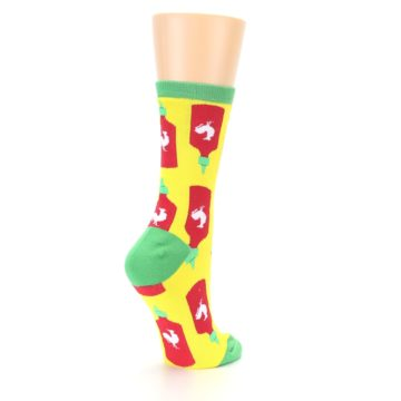 Image of Yellow Red Hot Sauce Women's Dress Socks (side-1-back-22)