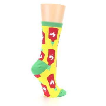 Image of Yellow Red Hot Sauce Women's Dress Socks (side-1-23)