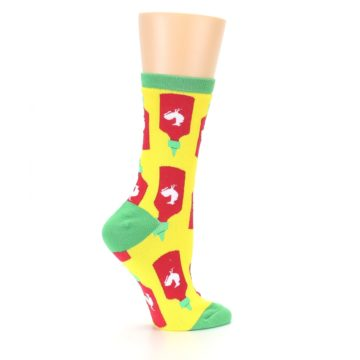 Image of Yellow Red Hot Sauce Women's Dress Socks (side-1-24)