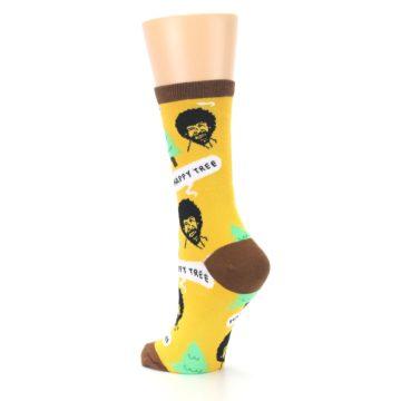 Image of Yellow Bob Ross Happy Tree Women's Dress Socks (side-2-back-15)