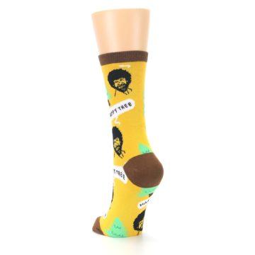 Image of Yellow Bob Ross Happy Tree Women's Dress Socks (side-2-back-16)