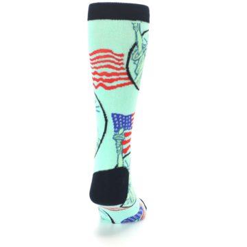 Image of Mint Black Lady Liberty Men's Dress Socks (back-19)