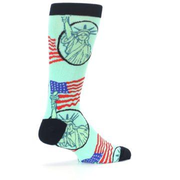 Image of Mint Black Lady Liberty Men's Dress Socks (side-1-23)