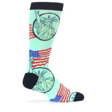 Image of Mint Black Lady Liberty Men's Dress Socks (side-1-24)