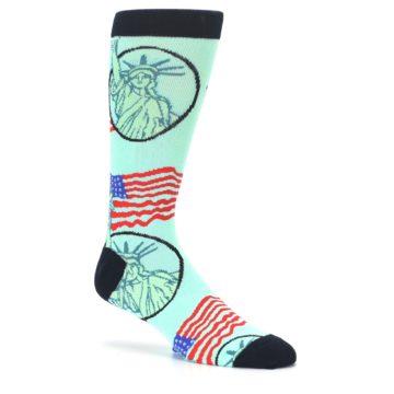 Image of Mint Black Lady Liberty Men's Dress Socks (side-1-26)
